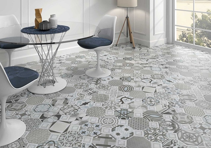 Đừng quên vận dụng nét đẹp của gạch bông để tạo sự hấp dẫn cho phòng khách nhà bạn.