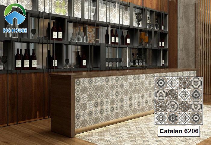 Mẫu gạch Catalan 6202 được nhiều gia chủ quan tâm hiện nay.