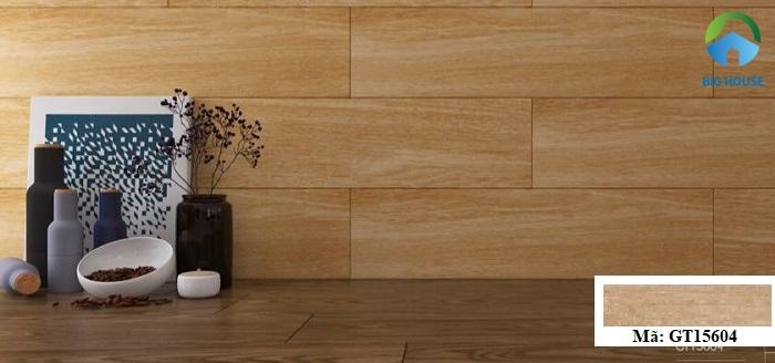 Gạch vân gỗ Viglacera GT15604 với gam màu nâu trung tính, trang nhã và nổi bật