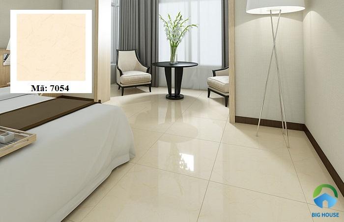 Mẫu gạch lát màu vàng 7054 của Hoàn Mỹ được ứng dụng nhiều cho các không gian nội thất hiện đại