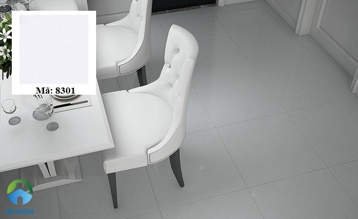 Gạch Hoàn Mỹ 8301 kích thước 60x60, dành cho các không gian nội thất. Sản phẩm có gam màu xám nhạt, đem lại nét đẹp tối giản, trang nhã cho các không gian ứng dụng.