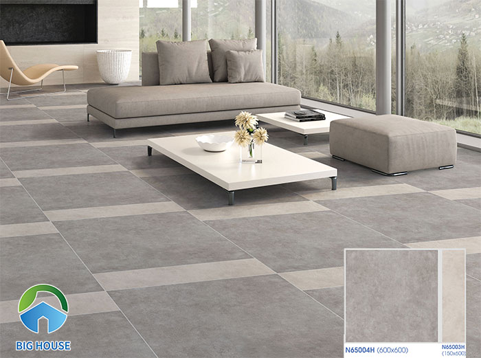 Mẫu gạch Ý Mỹ N65004H họa tiết giả cổ cho không gian theo phong cách đơn giản.