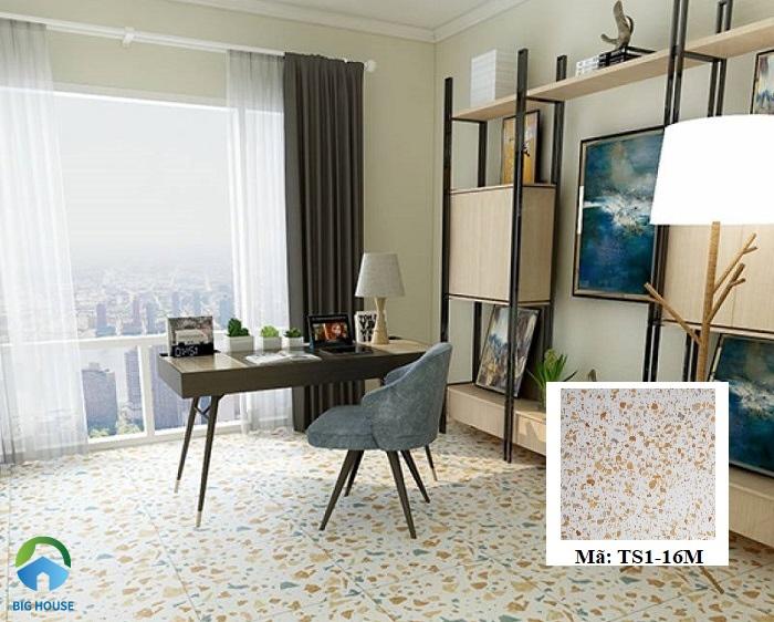 Gạch Terrazzo TS1-16M kích thước 30x30 cho phòng nội thất