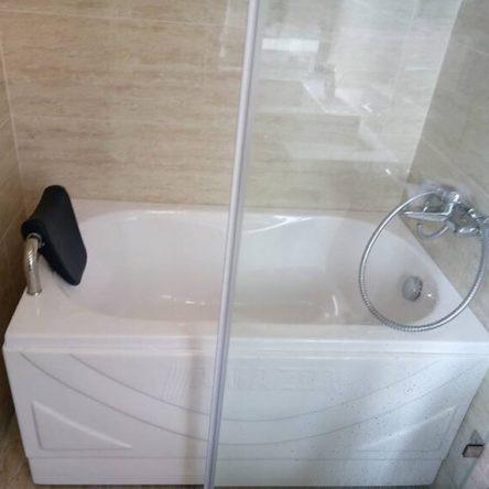 Mẫu bồn tắm 1m2 nhỏ gọn, đẹp hiện đại, tiện nghi cho phòng tắm
