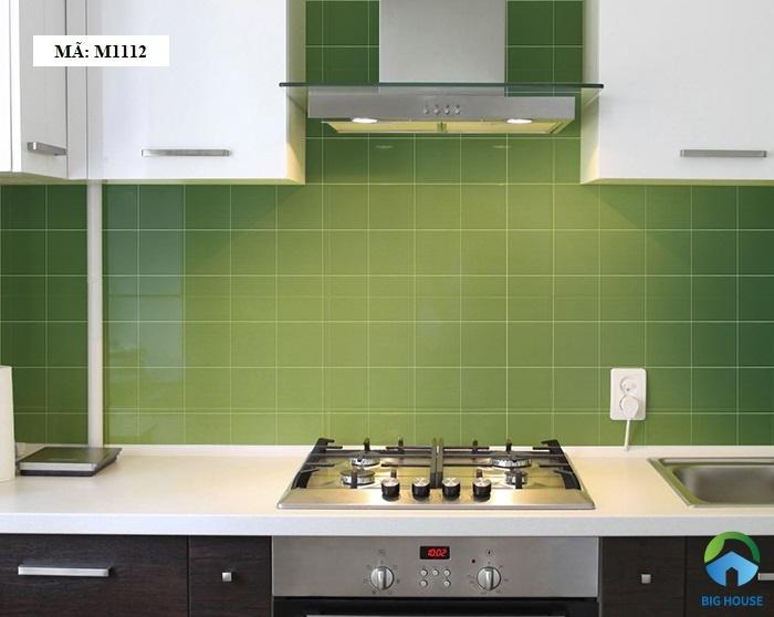 gạch ốp bếp theo phong thủy Gạch ốp bếp màu xanh lá