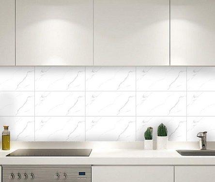 Gạch ốp bếp màu trắng đẹp, chuẩn xu hướng và báo giá chi tiết