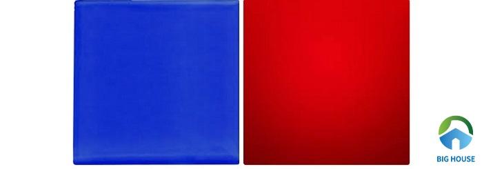 Xanh dương và đỏ là 2 gam màu cần hạn chế cho nhà bếp