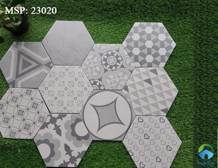 Mẫu gạch bông thiết kế hình lục giác 23020