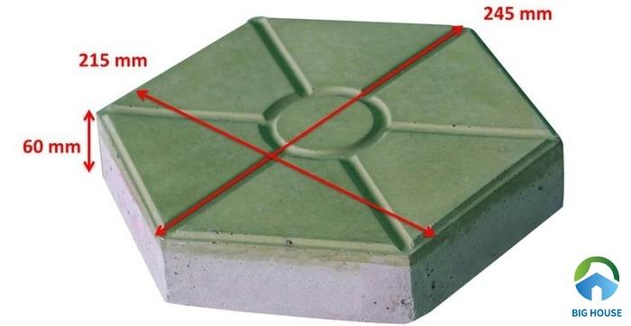 gạch lục giác bao nhiêu viên 1m2