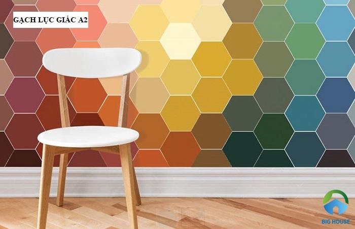 Bộ sưu tập gạch lục giác A2 với nhiều màu đơn sắc