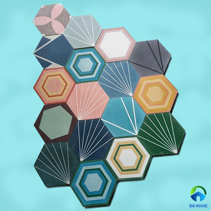 Gạch lục giác có 6 cạnh