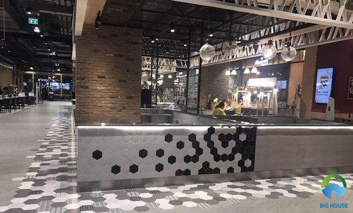 gạch ốp lát trang trí quán cafe