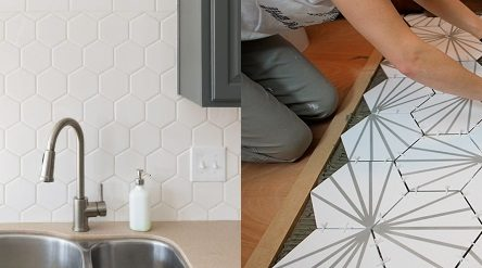Cách ốp lát gạch lục giác tại nhà đơn giản đẹp không kém thợ